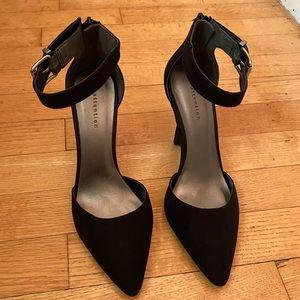 Black Suede Heels Closed Toe